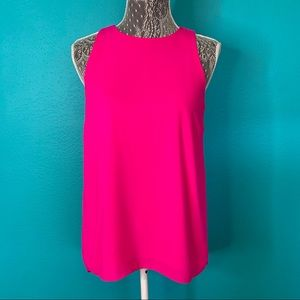 ince Camuto Bright Pink High/Low Blouse XS
